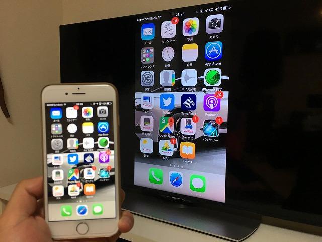 iPhoneミラーリング