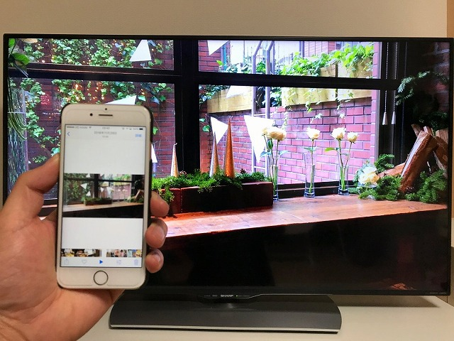 iPhoneをテレビに映す